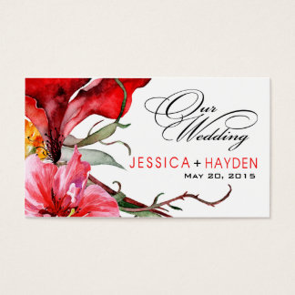 Flora Botanica Wedding Website Watercolor Flowers Business Card