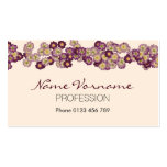 flora Double-Sided standard business cards (Pack of 100)
