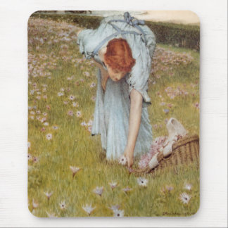 Flora by Sir Lawrence Alma-Tadema Mouse Pad