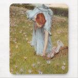 Flora by Sir Lawrence Alma-Tadema Mousepads