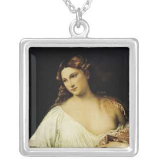 Flora, by Titian Square Pendant Necklace