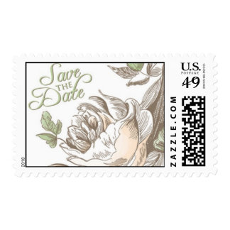 Flora Charm Save the Date by Ceci New York Postage Stamp