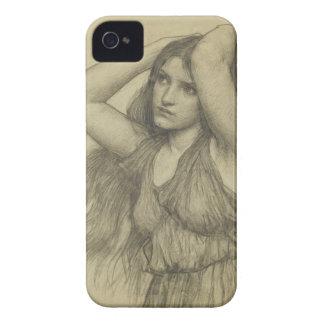 Flora con el pelo largo iPhone 4 Case-Mate carcasa