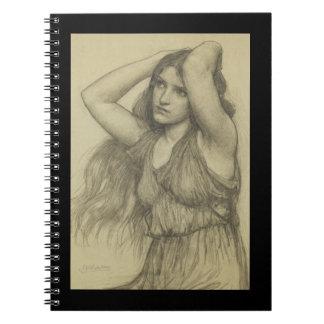 Flora con el pelo largo cuaderno