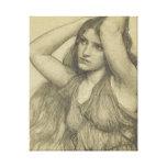 Flora con el pelo largo impresión en lienzo estirada