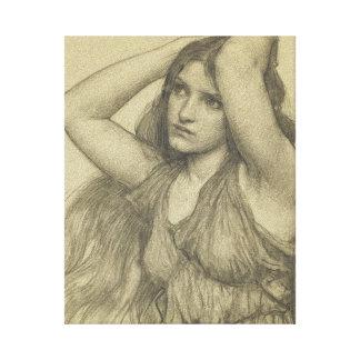 Flora con el pelo largo lona envuelta para galerías