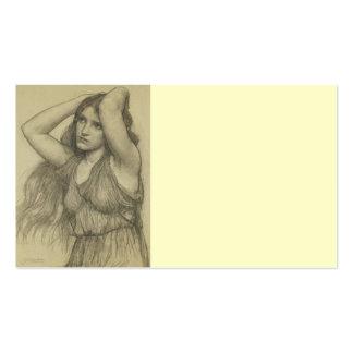 Flora con el pelo largo tarjetas de visita