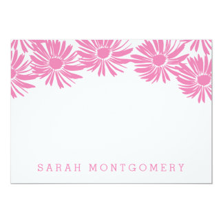 Flora Custom Stationery Card