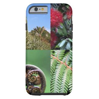 Flora del natural de Kiwiana Nueva Zelanda Funda De iPhone 6 Tough