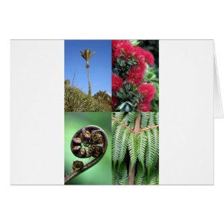 Flora del natural de Kiwiana Nueva Zelanda Tarjeta De Felicitación