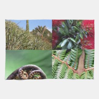 Flora del natural de Kiwiana Nueva Zelanda Toallas De Cocina