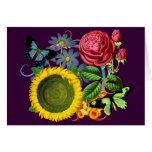 Flora del vintage tarjeta de felicitación