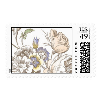 Flora Delicacy Bouquet by Ceci New York Postage Stamps