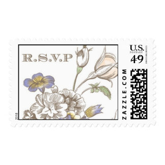 Flora Delicacy RSVP by Ceci New York Postage