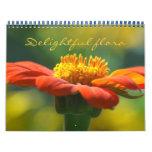 flora delighful calendario de pared