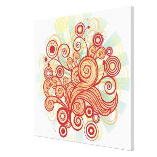Flora Design Canvas Print