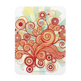 Flora Design Rectangular Photo Magnet
