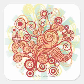 Flora Design Square Sticker