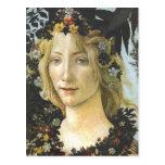 Flora (detail of Primavera), Sandro Botticelli Post Card