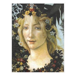 Flora (detalle de Primavera), Sandro Botticelli Tarjetas Postales