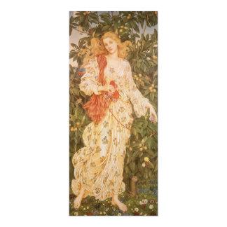 Flora, diosa de flores y flores por Morgan Invitación 10,1 X 23,5 Cm