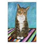 Flora el gato tarjeta de felicitación