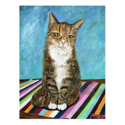 Flora el gato tarjeta postal