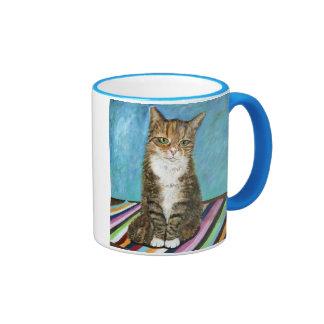 Flora el gato taza de dos colores