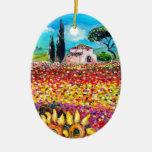 FLORA EN los campos, las amapolas y los girasoles Adorno De Reyes