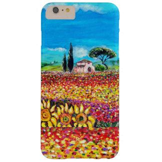 FLORA EN los campos, las amapolas y los girasoles Funda Barely There iPhone 6 Plus