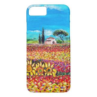 FLORA EN los campos, las amapolas y los girasoles Funda iPhone 7