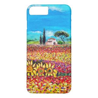 FLORA EN los campos, las amapolas y los girasoles Funda iPhone 7 Plus