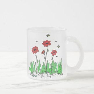 Flora en taza helada hierba