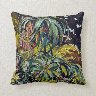 Flora exótica #12 en SunshineDazzle Cojín