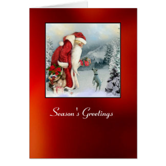 Flora Father Christmas Cards