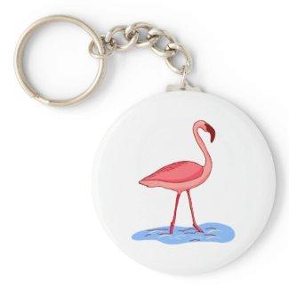 Flora Flamingo keychain