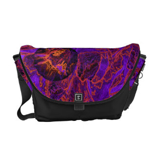 Flora Forma 28 Floral Abstract Messenger Bags