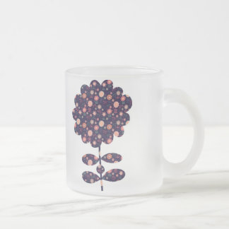 Flora Frosted Glass Coffee Mug