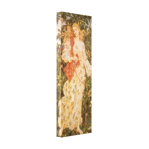 Flora, Goddess of Blossoms and Flowers by Morgan Canvas Print