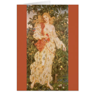 Flora, Goddess of Blossoms and Flowers by Morgan Greeting Card