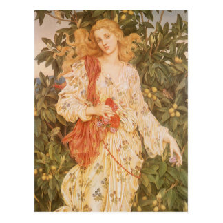 Flora, Goddess of Blossoms and Flowers by Morgan Postcard