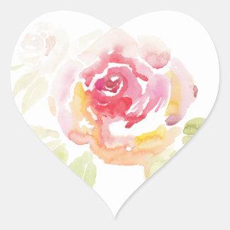 Flora Heart Sticker