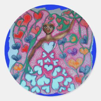 Flora in the Garden with Love Classic Round Sticker