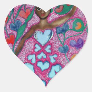 Flora in the Garden with Love Heart Sticker