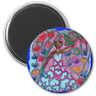 Flora in the Garden with Love Magnet