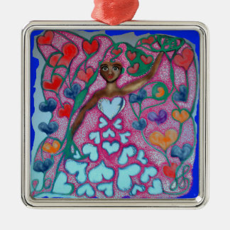 Flora in the Garden with Love Metal Ornament
