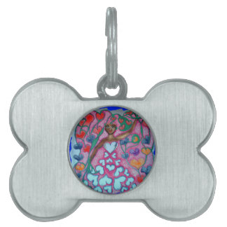 Flora in the Garden with Love Pet Tag