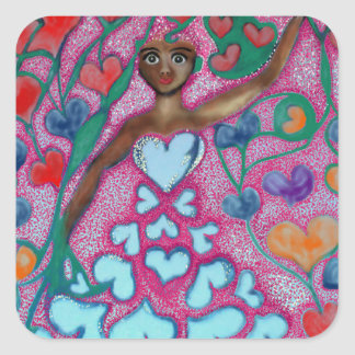 Flora in the Garden with Love Square Sticker
