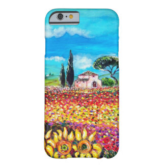 FLORA IN TUSCANY/ Fields ,Poppies and Sunflowers Barely There iPhone 6 Case