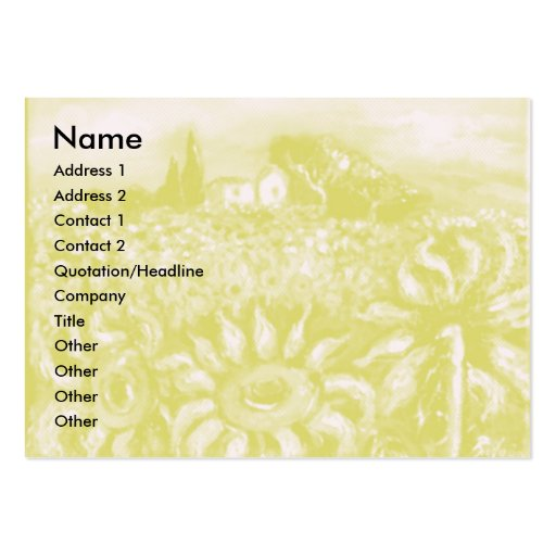 FLORA IN TUSCANY/ Fields ,Poppies and Sunflowers Business Card Template
